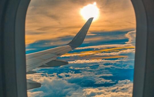 skyview from a flight window