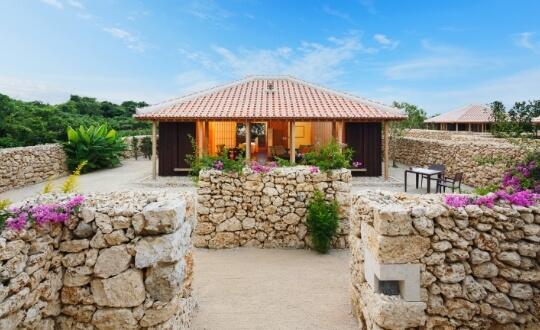 Okinawan inspired luxury bungalow of Taketomi Island