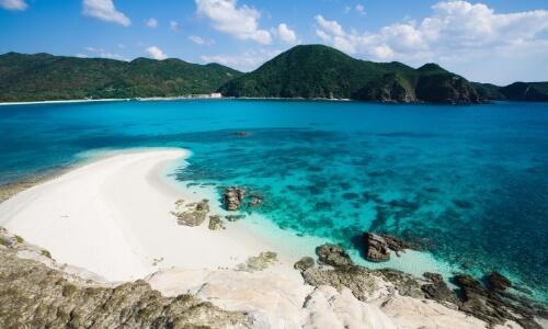 Beach of Okinawa Island in Japan