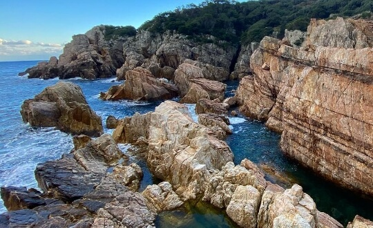 Cliff in Yakushima Island in Japan